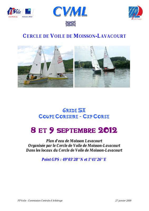Avis de course Cap Corse-Corsaire
